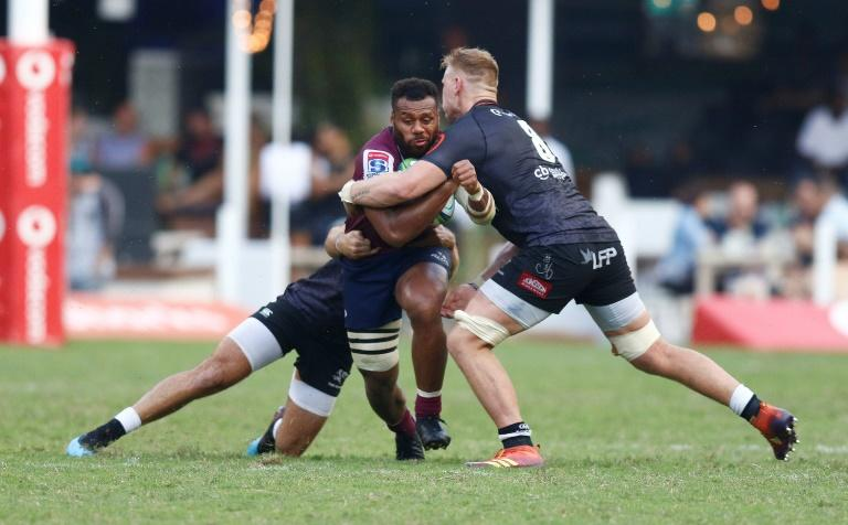 Samu Kerevi (L) captained Queensland Reds to a first victory in Durban in 15 years