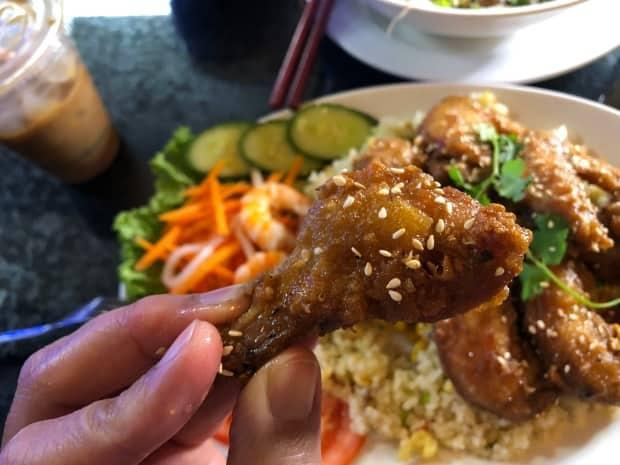 Vietnamese chicken wings at Quan Ngon Delicious Vietnamese Restaurant in Regina in 2020. For many, wings have been a pandemic comfort food, and some of the first meals eaten with friends when pubs and restaurants opened up this summer. (Allan Pulga - image credit)