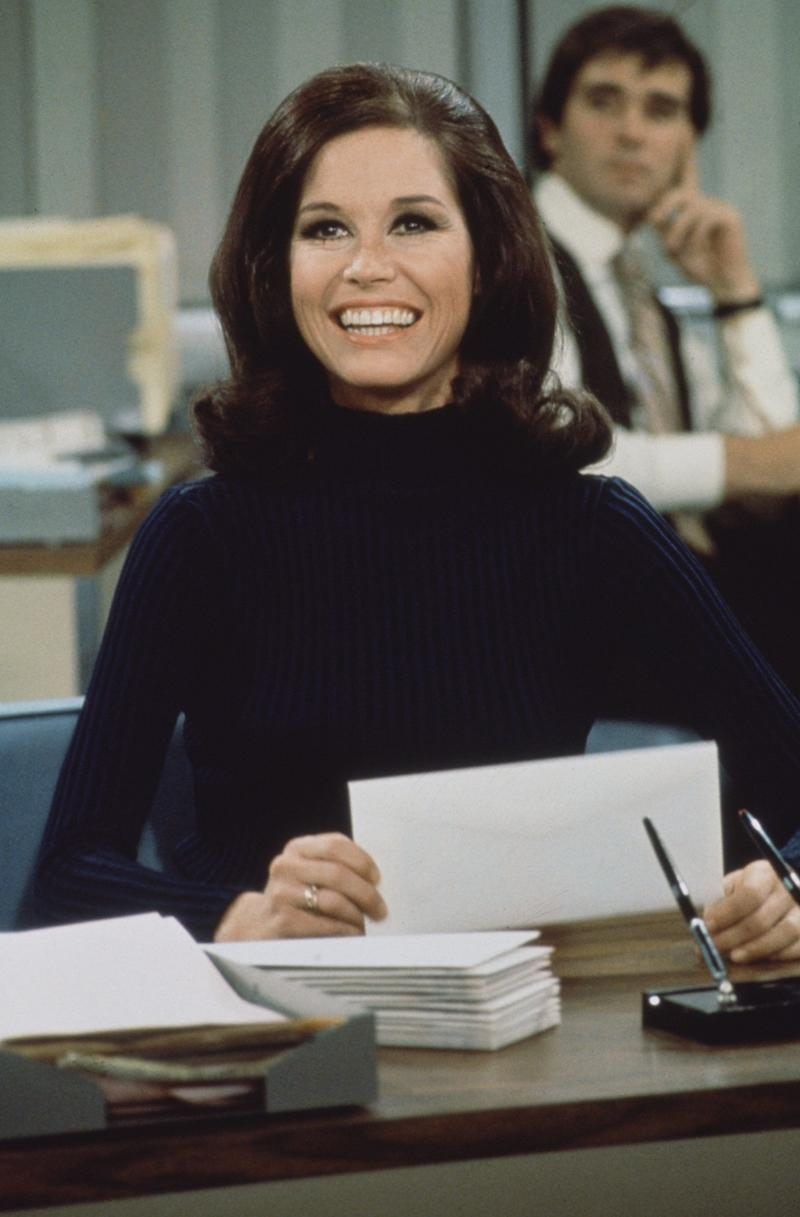 "The actress smiles in a scene from ""The Mary Tyler Moore Show"" in 1970."