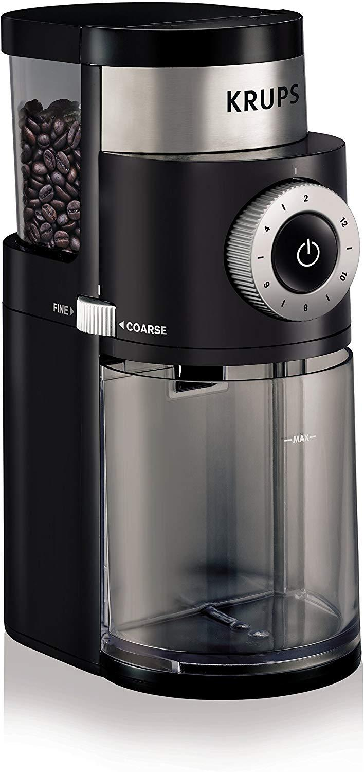 KRUPS GX5000 Professional Electric Coffee Burr Grinder with Grind Size and Cup Selection, 7-Ounce, Black