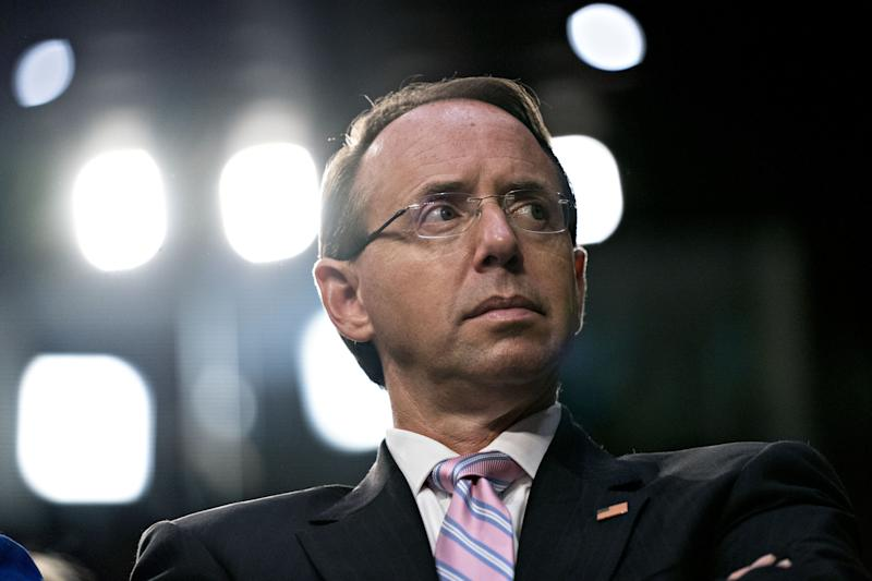 Rosenstein Says Mueller Report Will Outline Russian CybercrimesMore