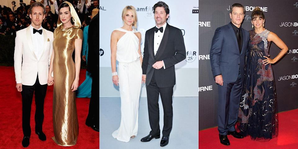 <p>In Hollywood, it's normal for famous humans to marry other famous humans―Brad and Angelina! Kim and Kanye! Blake and Ryan! But there are a fair few celebs out there who chose to take the road (aisle!?) less traveled to marry a normal. Here, 40 stars who married regular, non-famous people.</p>