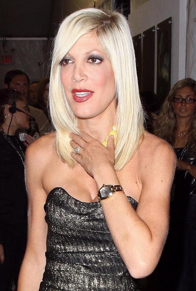 """<i>Star</i> magazine reports Tori Spelling only hires guys to work on her staff. Why? According to the tab, """"Tori is really insecure about losing her husband Dean McDermott, so she doesn't want to have any cute young chicks running around."""" For the full story, log onto <a href=""""http://www.gossipcop.com/tori-spelling-gay-man-staff-assistant-dean-mcdermott/ """" target=""""new"""">Gossip Cop</a>. John Parra/<a href=""""http://www.wireimage.com"""" target=""""new"""">WireImage.com</a> - September 12, 2009"""