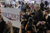 FILE-In this Saturday, Jan. 21, 2012 file photo, Republican presidential candidate, former House Speaker Newt Gingrich, right, campaigns at Tommy's Country Ham House, in Greenville, S.C., on South Carolina's Republican primary election day. Owner Tommy Stevenson announced Sunday that Tommy's Country Ham House would close this spring.(AP Photo/Matt Rourke, File)