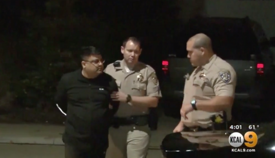 Anurag Chandra has been charged with three counts of murder (YouTube/KTLA-TV)