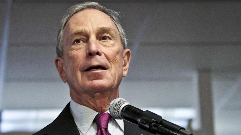 FILE - In this Dec. 18, 2013 file photo, then-Mayor Michael Bloomberg speaks in New York. The Republican National Committee began running ads in 40 media markets Tuesday, mostly targeting incumbent senators who supported President Barack Obama's health care program. Billionaire former New York Mayor Michael Bloomberg, meanwhile, gave $2.5 million to help Democrats defend their majority in the Senate. (AP Photo/Bebeto Matthews, File)
