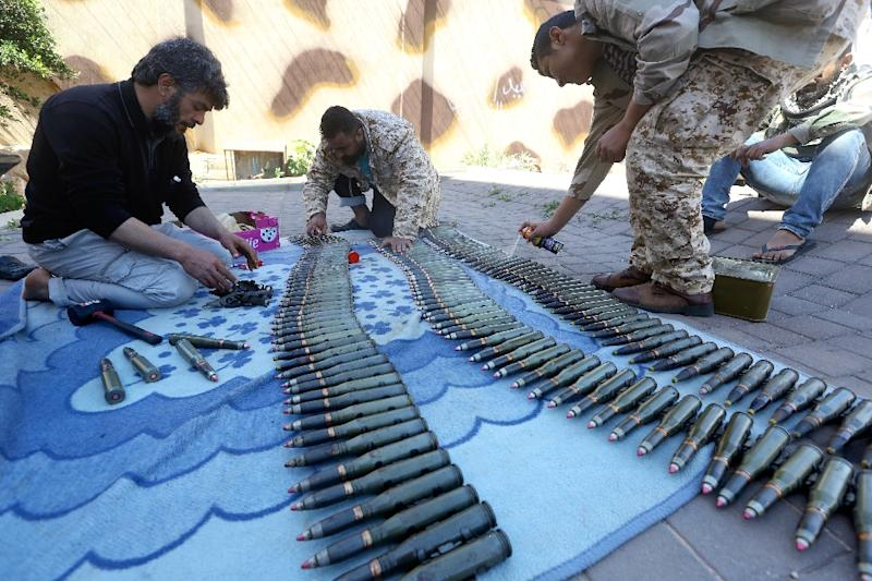 Forces loyal to Libya's UN-backed government include militia fighters from the city of Misrata (AFP Photo/Mahmud TURKIA)