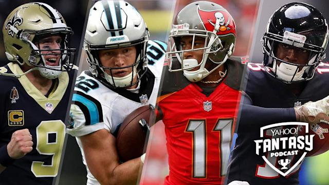 "Liz Loza, Matt Harmon and Dalton Del Don discuss the pressing questions for each team in the NFC South on the <a href=""https://yahoosports.com/fantasypodcast"" rel=""nofollow noopener"" target=""_blank"" data-ylk=""slk:Yahoo Sports Fantasy Podcast"" class=""link rapid-noclick-resp"">Yahoo Sports Fantasy Podcast</a>."