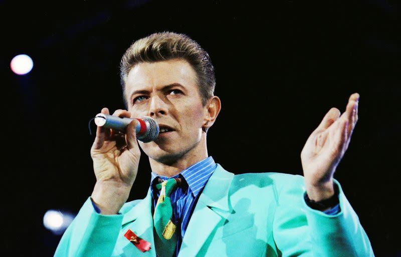 FILE PHOTO: David Bowie performs during The Freddie Mercury Tribute Concert at Wembley Stadium in London