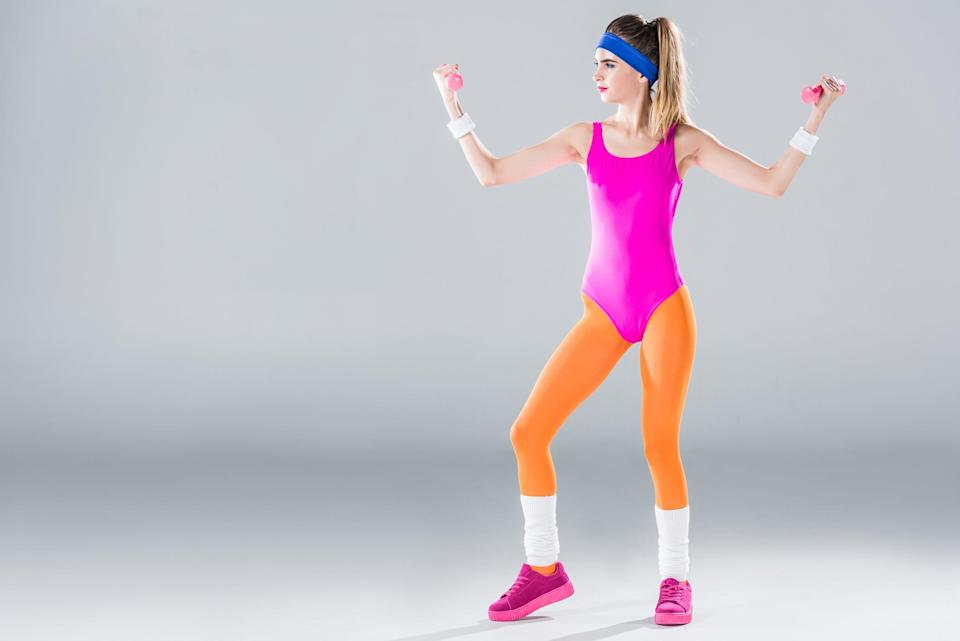 Get ready to jazzercise with this easy costume!