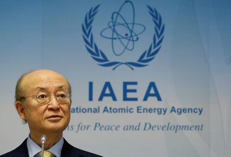 International Atomic Energy Agency (IAEA) Director General Yukiya Amano addresses a news conference during a board of governors meeting at the IAEA headquarters in Vienna, Austria March 4, 2019.   REUTERS/Leonhard Foeger