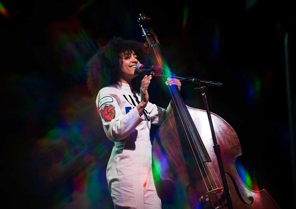 <p><strong>Esperanza Spalding </strong></p><p>Esperanza Spalding is an American jazz bassist, singer, songwriter and composer from Portland, Oregon. She's self-taught and trained on a number of instruments, including the guitar and bass. She won a Grammy for Best New Artist beating out favorites such as Justin Bieber, Drake, Mumford & Sons, and even Florence & the Machine.</p>