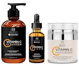 <p>Incorporate vitamin C into your routine with the <span>Radha Beauty Vitamin C Complete Facial Care Kit - 3-in-1 Anti-Aging Set</span> ($30).</p>