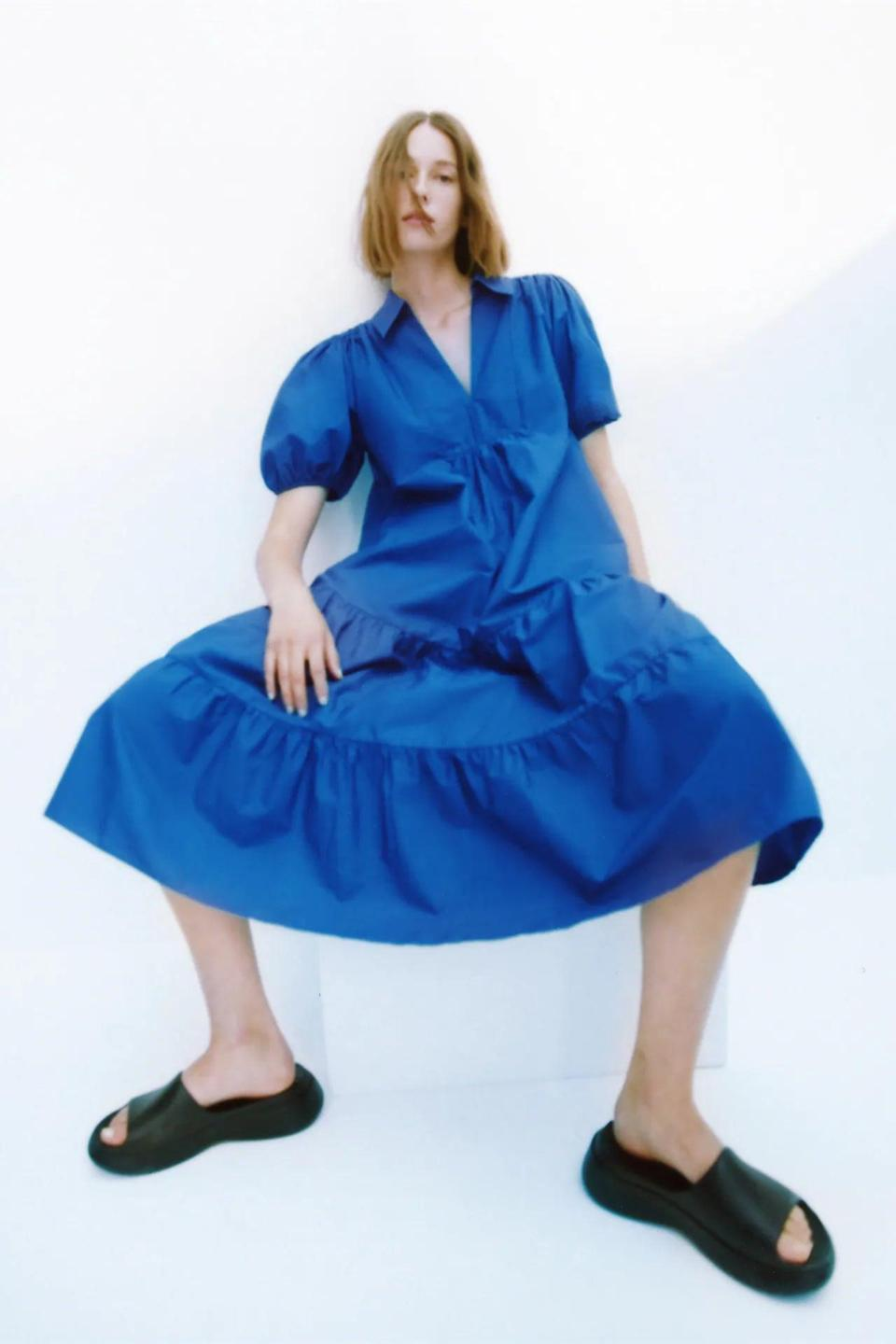 <p>This <span>Oversized Poplin Dress</span> ($50) is a failsafe choice for taking Zoom meetings, then heading out to drinks afterward. Pair it with slides if you're feeling lazy or platform wedges if you're dressing to impress.</p>