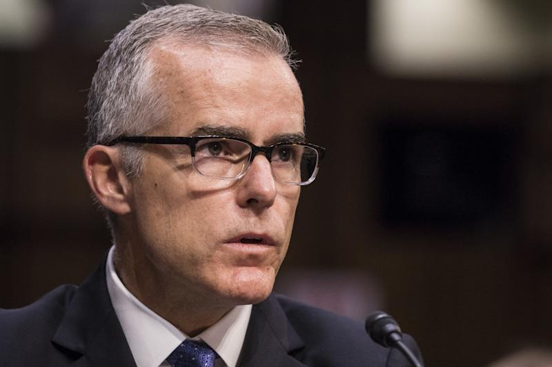 The Times reported that Trump suggested McCabe, who served as acting FBI director for a few months in mid-2017, hada conflict of interest because McCabe's wife received a campaign donation during a 2015 Virginia Senate race from a PACconnectedwith Virginia Gov. Terry McAuliffe, a Democrat and friend of Hillary and Bill Clinton.