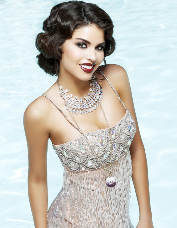 Miss California USA 2013, Mabelynn Capeluj, poses for fashion photographer Fadil Berisha in a 1920's Great Gatsby inspired wardrobe by Sherri Hill at the Planet Hollywood Resort and Casino, in Las Vegas Nevada.  Tune in to the crowning moment LIVE on NBC starting at 9:00 PM ET on June 16, 2013 from PH Live.