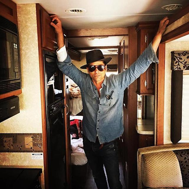 """<p>Uncle Jesse, er, John Stamos also hit the open road to celebrate his birthday. The actor and his former <i>Grandfathered</i> co-star Josh Peck <a href=""""http://www.mtv.com/news/2921958/josh-peck-john-stamos-birthday-rv-road-trip/"""" rel=""""nofollow noopener"""" target=""""_blank"""" data-ylk=""""slk:put their bromance"""" class=""""link rapid-noclick-resp"""">put their bromance</a> to the test by going on a trip together in close confines. John shared a photo of that #RVLife, and it doesn't look too shabby. (Photo: <a href=""""https://www.instagram.com/p/BJWLGkLgusq/?taken-by=johnstamos"""" rel=""""nofollow noopener"""" target=""""_blank"""" data-ylk=""""slk:John Stamos via Instagram"""" class=""""link rapid-noclick-resp"""">John Stamos via Instagram</a>)<br><br></p>"""
