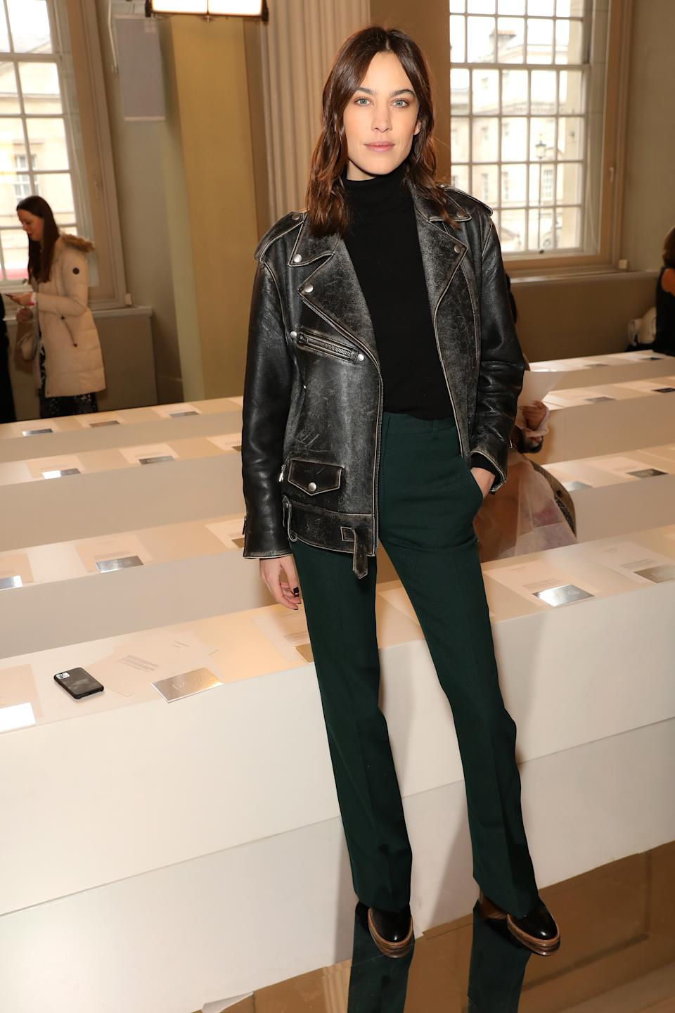 Alexa Chung had a front-row view of the fashion showcase [Image: Getty]