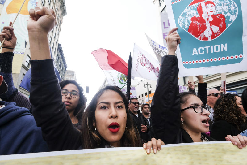 People in Los Angeles protest ICE raids and deportations