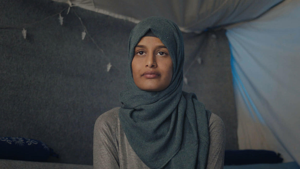 The story of Shamima Begum is among the ones told in documentary 'The Return: Life After ISIS'. (MetFilm/Sky)