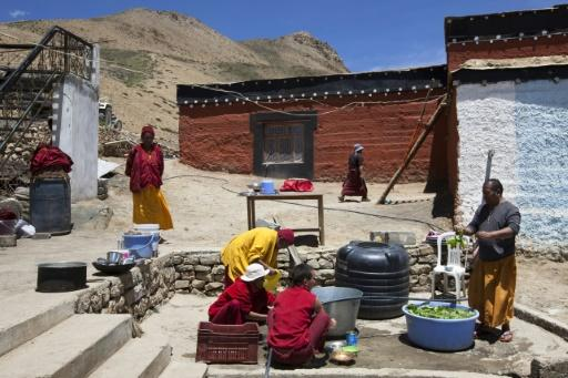 Monks and residents of the nearby village of Komik are already feverishly preparing for winter