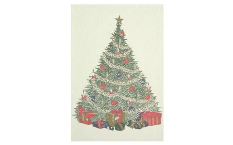 Original Crown Mill Tree With Presents Christmas Cards from Harrods - Credit: Harrods