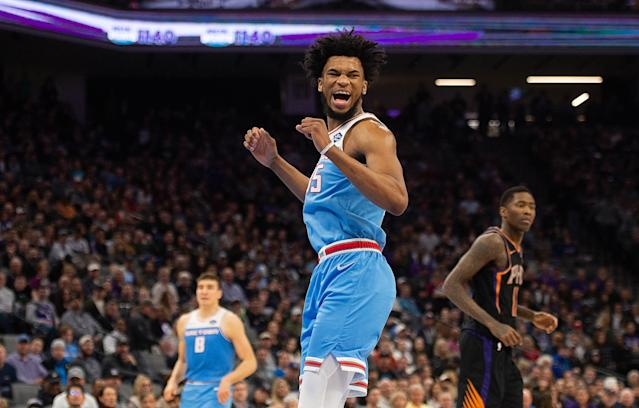 Kings forward Marvin Bagley III scored a career-high 32 points on Sunday. (Getty Images)