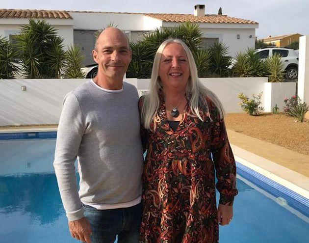 Lee Abbott with his wife Karen in Spain