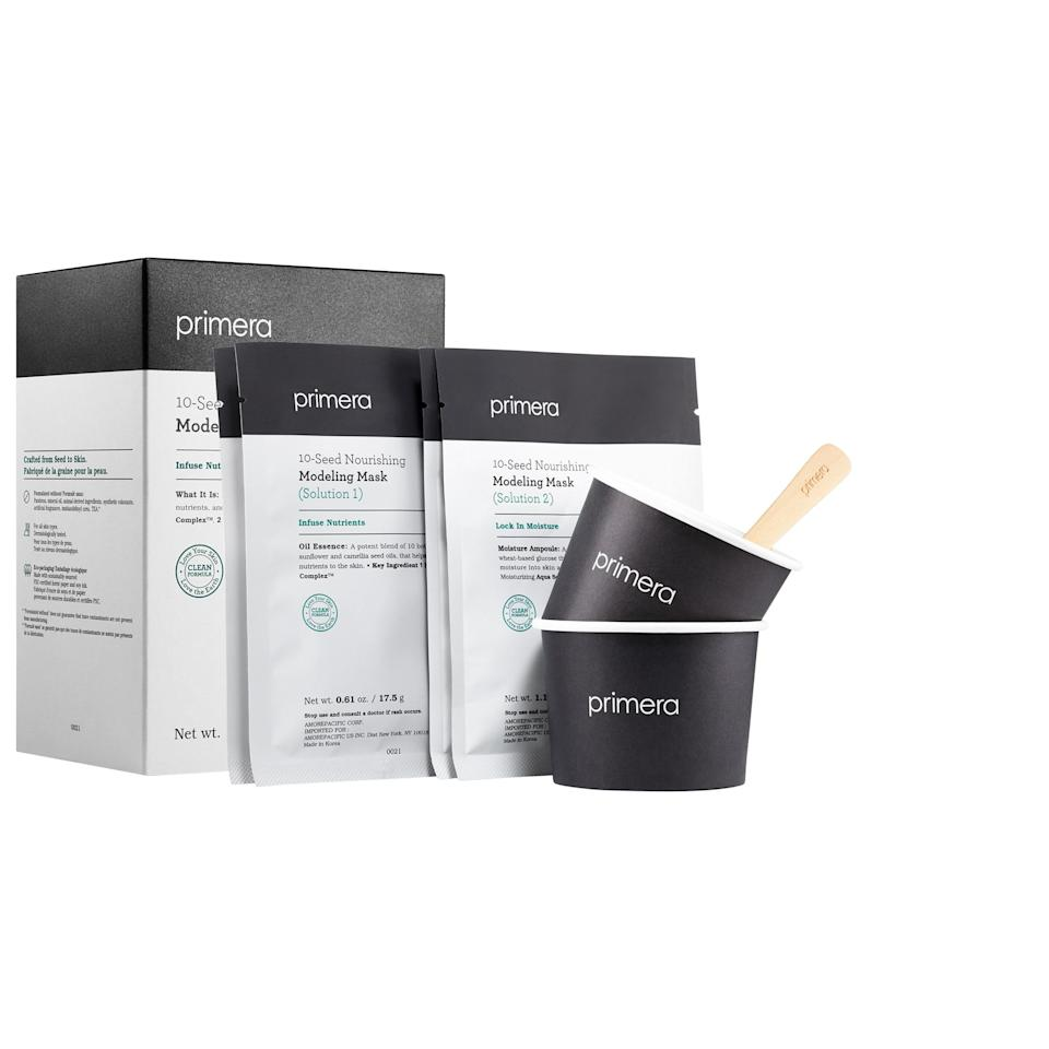 """<p><strong>Primera</strong></p><p>sephora.com</p><p><strong>$22.00</strong></p><p><a href=""""https://go.redirectingat.com?id=74968X1596630&url=https%3A%2F%2Fwww.sephora.com%2Fproduct%2Fprimera-10-seed-nourishing-modeling-mask-P447181&sref=https%3A%2F%2Fwww.harpersbazaar.com%2Fbeauty%2Fskin-care%2Fg26456388%2Fbest-peel-off-face-masks%2F"""" rel=""""nofollow noopener"""" target=""""_blank"""" data-ylk=""""slk:Shop Now"""" class=""""link rapid-noclick-resp"""">Shop Now</a></p><p>It only takes a minute to mix this nourishing, glow-enhancing mask yourself. Plus, the ultra-thick formula peels off super easily.</p>"""
