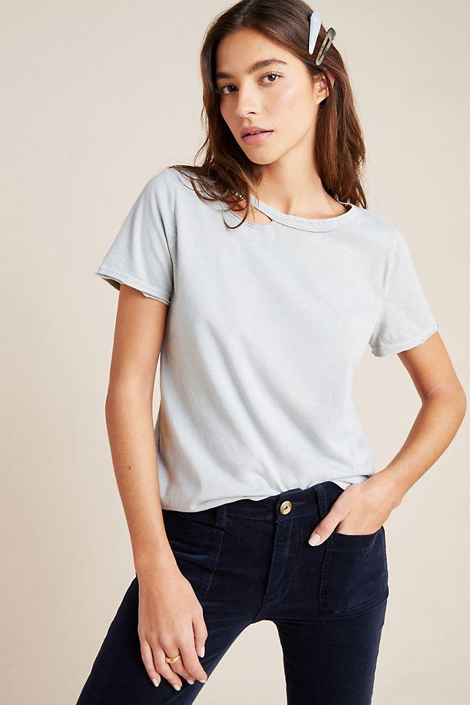 """<br><br><strong>T.La Anthropologie</strong> Mariela Cut-Out Tee, $, available at <a href=""""https://go.skimresources.com/?id=30283X879131&url=https%3A%2F%2Fwww.anthropologie.com%2Fshop%2Fmariela-cut-out-tee"""" rel=""""nofollow noopener"""" target=""""_blank"""" data-ylk=""""slk:Anthropologie"""" class=""""link rapid-noclick-resp"""">Anthropologie</a>"""