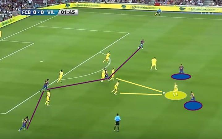 Villarreal try to pass out from the back