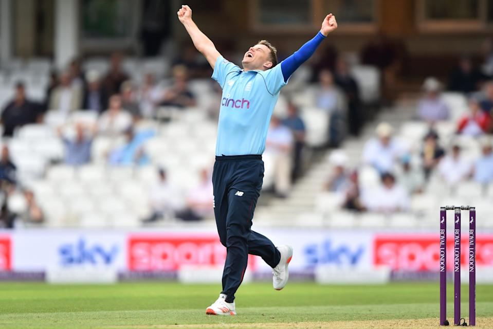 Sam Curran celebrates his fifth wicket (Getty Images)