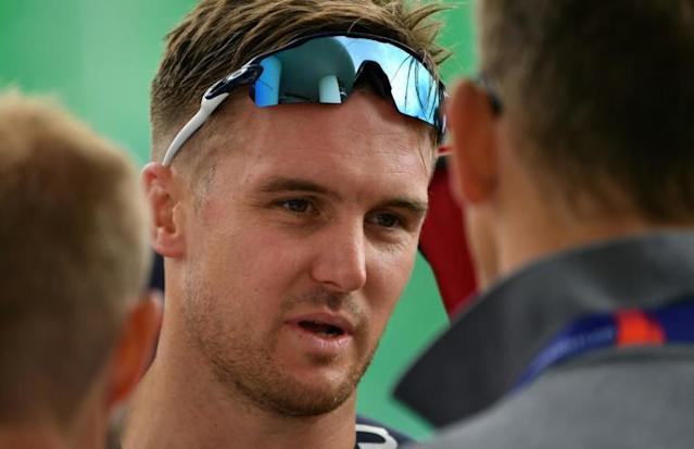 England's Jason Roy takes part in a World Cup training session at Lord's (AFP Photo/Paul ELLIS)