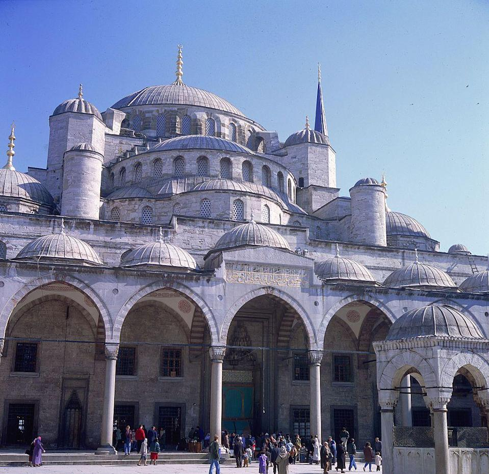 """<p>Places like the <a href=""""https://www.theguideistanbul.com/grand-bazaar/"""" rel=""""nofollow noopener"""" target=""""_blank"""" data-ylk=""""slk:Grand Bazaar"""" class=""""link rapid-noclick-resp"""">Grand Bazaar </a>and <a href=""""http://www.bluemosque.co/"""" rel=""""nofollow noopener"""" target=""""_blank"""" data-ylk=""""slk:Blue Mosque"""" class=""""link rapid-noclick-resp"""">Blue Mosque</a> made <a href=""""https://visit.istanbul/"""" rel=""""nofollow noopener"""" target=""""_blank"""" data-ylk=""""slk:Istanbul"""" class=""""link rapid-noclick-resp"""">Istanbul</a> one of the top destinations of 1984. </p>"""