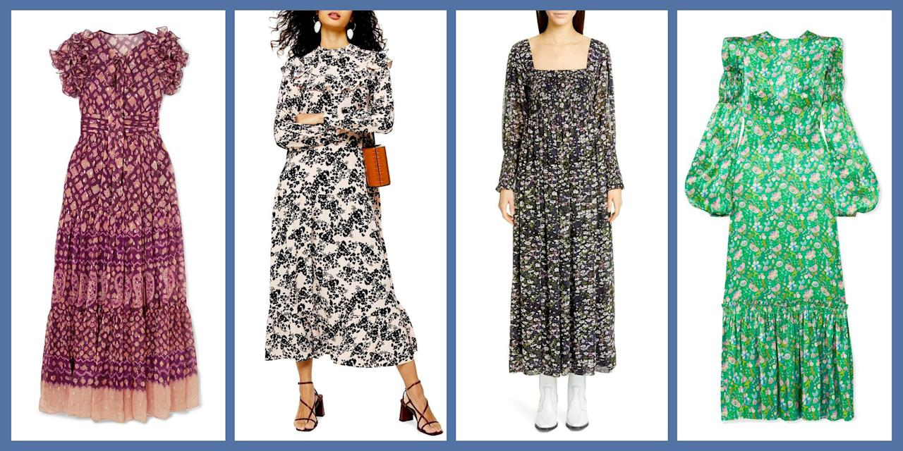 <p>When it comes to trends in fashion, one can be certain that eventually they will always come back around. One trend whose comeback could not be more welcome is that of the prairie dress, first popularized by Laura Ashley, Sax Gunne and the like. But in the year 2019, the frock couldn't be more well-timed for a resurgence. After years of nearly-naked dresses and micro-minis, the modest dress is here to prove that not only is showing less skin subversively stylish, but that a truly season-less look is worth it's weight in gold. </p><p>Because the prairie dress isn't just any old dress: between a longer length, ruffle bibs, embellished sleeves and the oh-so elegant drop waist, you get femininity squared, head turning style, and a dress that works as well with tights as it does with sandals. With the resurgence of the trend, there have arisen a ton of new styles that can be worn a ton of different ways,  whether you want to go full on Prairie-Girl, or just riff on the style. Here, some of our favorites: </p>