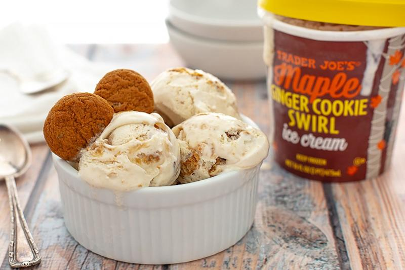 Trader Joe's New Maple Ginger Cookie Ice Cream Is Perfect for Fall