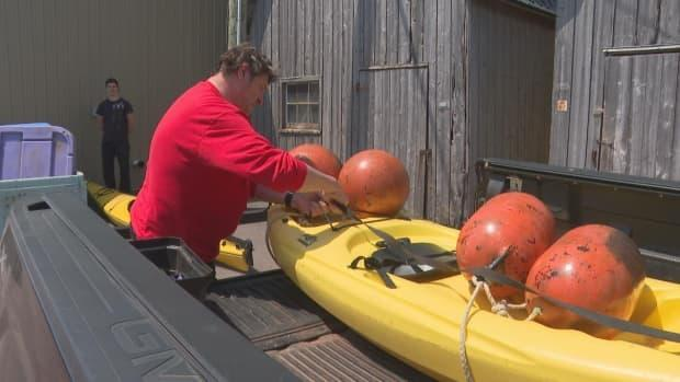 Bryan Hutchings is an experienced sea kayaker and guide. RCMP said he was well prepared, and that his life jacket and wet suit saved his life.  (Brian Higgins/CBC - image credit)