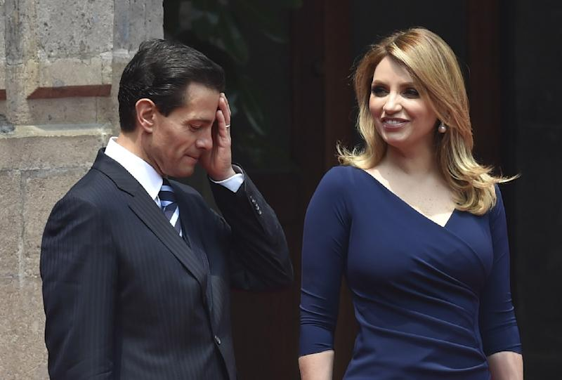 """The """"White House"""" scandal erupted in November 2014, when a news report found that Mexican President Enrique Pena Nieto's wife Angelica Rivera had bought the mansion from a government contractor"""