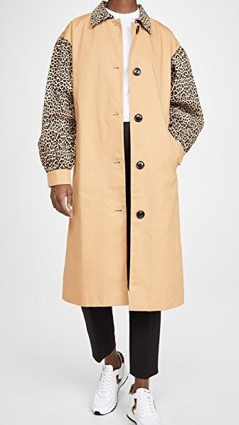 "<br><br><strong>English Factory</strong> Combo Leopard Trench, $, available at <a href=""https://go.skimresources.com/?id=30283X879131&url=https%3A%2F%2Fwww.shopbop.com%2Fcombo-leopard-trenchb-english-factory%2Fvp%2Fv%3D1%2F1501097406.htm"" rel=""nofollow noopener"" target=""_blank"" data-ylk=""slk:Shopbop"" class=""link rapid-noclick-resp"">Shopbop</a>"