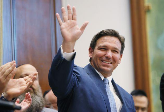 Florida Gov. Ron DeSantis has signed legislation that will require the state's public colleges and universities to survey its students, staff and faculty about their beliefs and viewpoints. He suggested that schools may face financial repercussions depending on the results. (Photo: Joe Raedle via Getty Images)