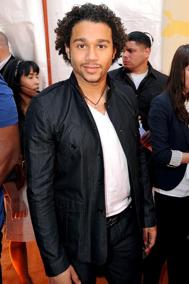 """Corbin Bleu arrives at """"Nickelodeon's 2009 Kids' Choice Awards"""" at UCLA's Pauley Pavilion on March 28, 2009 in Westwood, California."""