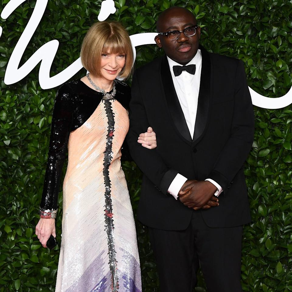 Anna Wintour and Edward Enninful arrive at The Fashion Awards 2019 - Getty Images Europe