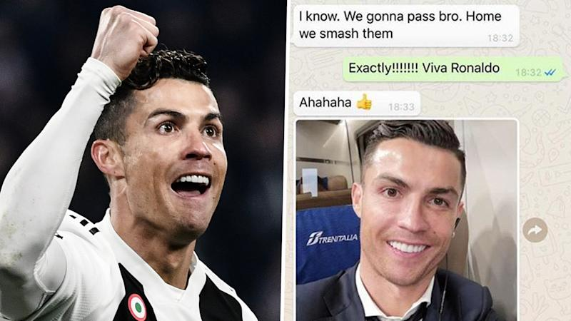 Ronaldo predicted he'd 'smash' Atletico as Evra shares his WhatsApp conversation with Juventus star