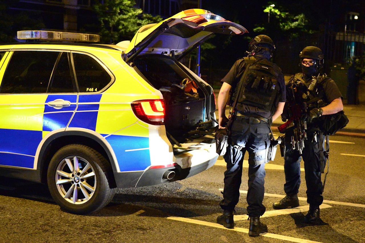 "<p>Armed police on Borough High Street as police have confirmed that incidents at London Bridge and Borough Market are ""terrorist incidents"", following reports of a vehicle ploughing into pedestrians on a bridge and stabbings. Dominic Lipinski/PA Wire </p>"