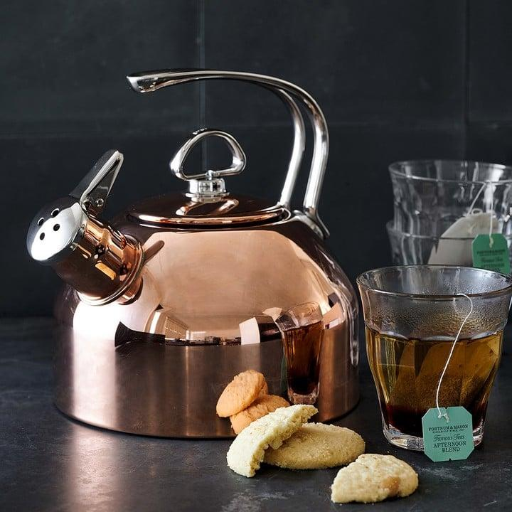 "<p><a href=""https://www.popsugar.com/buy/Williams-Sonoma-Chantal-Copper-Whistling-Tea-Kettle-Copper-148924?p_name=Williams-Sonoma%20Chantal%20Copper%20Whistling%20Tea%20Kettle%2C%20Copper&retailer=williams-sonoma.com&pid=148924&price=160&evar1=yum%3Aus&evar9=40927508&evar98=https%3A%2F%2Fwww.popsugar.com%2Fphoto-gallery%2F40927508%2Fimage%2F40927516%2FWilliams-Sonoma-Chantal-Copper-Whistling-Tea-Kettle-Copper&list1=williams-sonoma&prop13=api&pdata=1"" rel=""nofollow"" data-shoppable-link=""1"" target=""_blank"" rel=""nofollow"" class=""ga-track"" data-ga-category=""Related"" data-ga-label=""http://www.williams-sonoma.com/products/chantal-whistling-tea-kettle-copper/?pkey=cteakettles-stovetop"" data-ga-action=""In-Line Links"">Williams-Sonoma Chantal Copper Whistling Tea Kettle, Copper</a> ($160)</p>"