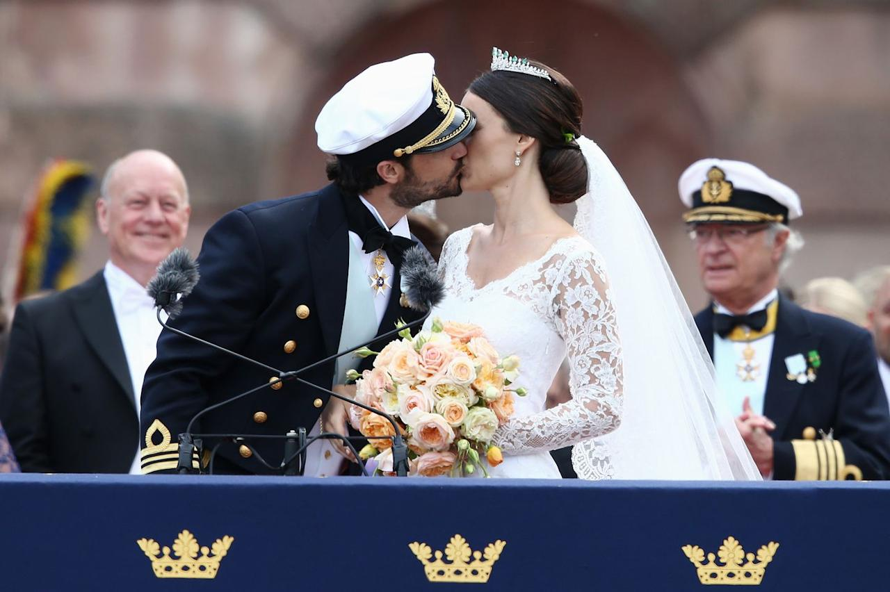<p>After their 2015 wedding in Stockholm.</p>