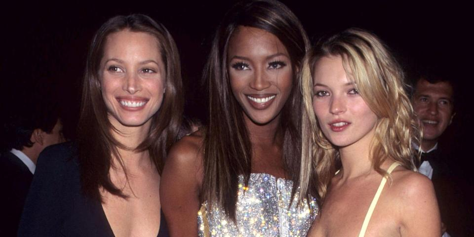 <p>Forget Kendall Jenner, Malaika Firth and Dilone for a second. If the 90s fashion trend continues to dominate our wardrobes this year– giving us a new-found love for chokers, slip dresses, popper trousers and 'mom' jeans – we need look no further than to the supermodels of the 1990s our style inspiration: </p>