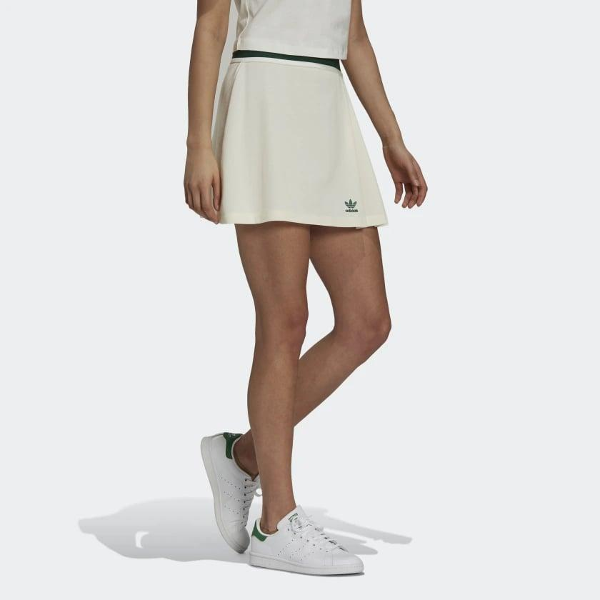 <p>We love the look of this <span>Adidas Tennis Luxe Tennis Skirt</span> ($45).</p>