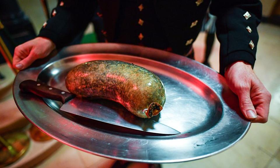 A haggis at a Burns supper last year