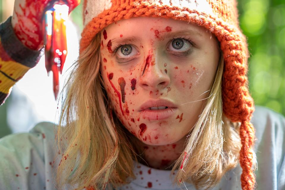 """Lulu Wilson plays the rebellious title teen who fights back against home invaders in the bloody thriller """"Becky."""""""